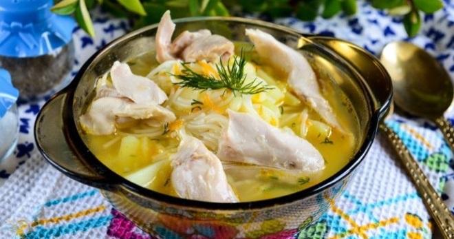 Куриный суп с вермишелью и картошкой - самые вкусные рецепты простого домашнего блюда