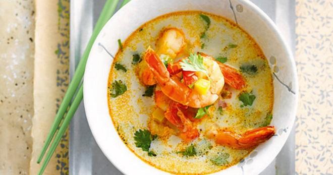 Суп с креветками - вкуснейшее блюдо для любителей морепродуктов