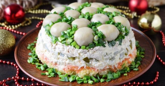 Салат «Полянка» - красивое и восхитительно вкусное праздничное блюдо!