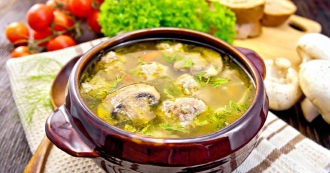 Грибной суп из шампиньонов – вкусное и сытное блюдо с простыми рецептами