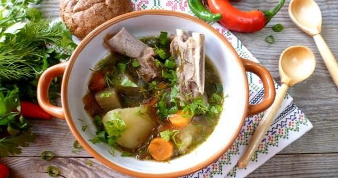 Суп из баранины - сытное, очень вкусное питательное блюдо!