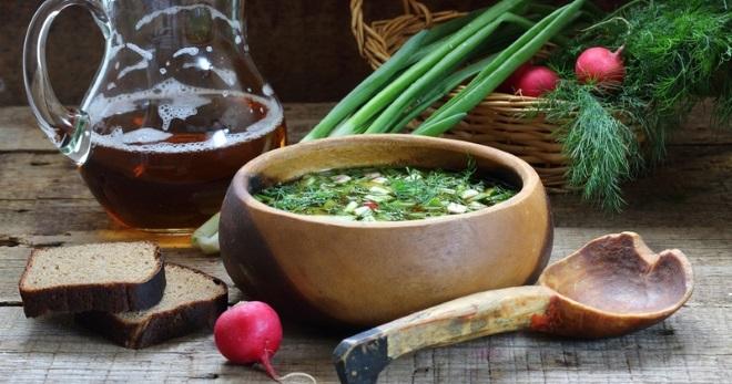 Постная окрошка - вкусное и сытное блюдо для жаркого дня