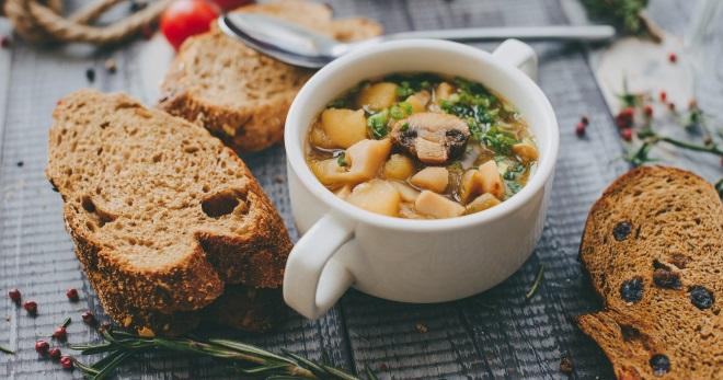 Постный грибной суп - вкусное, ароматное и очень сытное блюдо