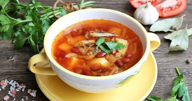 Суп из кильки в томатном соусе - старинные и новые рецепты вкусного блюда