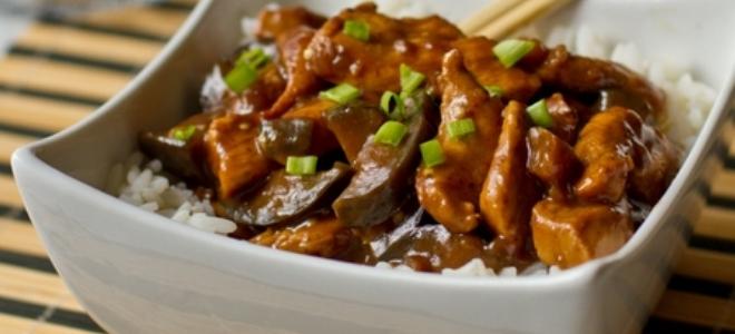 Баклажаны с мясом по-корейски
