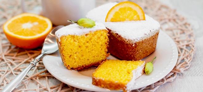 Банановый кекс с апельсиновым соком