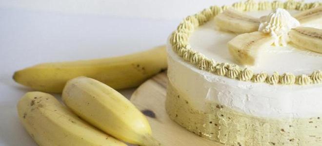банановый крем для бисквита