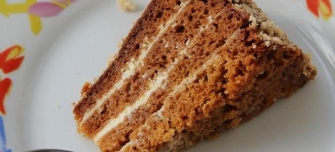 Рецепт торта из готовых бисквитных коржей с орехами