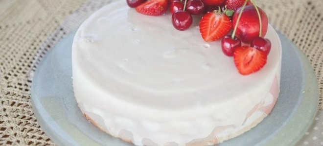 Глазурь для покрытия торта