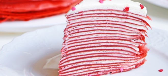 блинный торт красный бархат