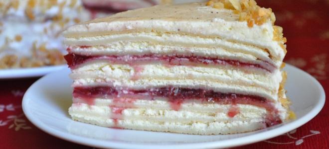 рецепт блинного торта с творогом и сметаной #1