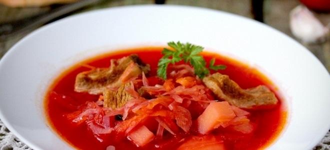 борщ из квашеной капусты рецепт классический