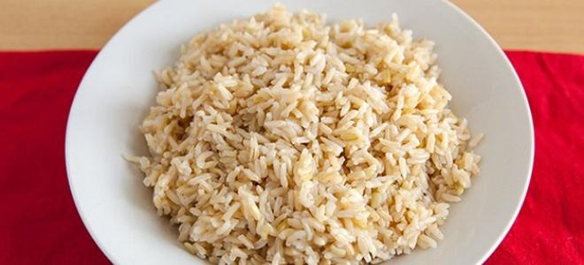 Бурый рис в микроволновке