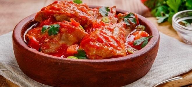 Чахохбили рецепт с томатной пастой с