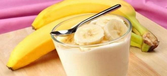 десерт из кефира и банана