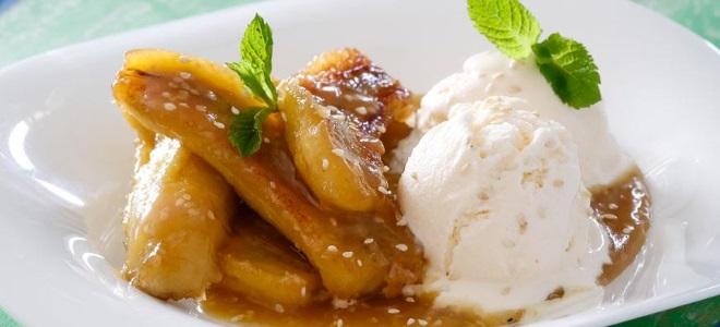десерт жареные бананы
