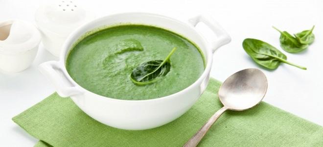 детский суп со шпинатом