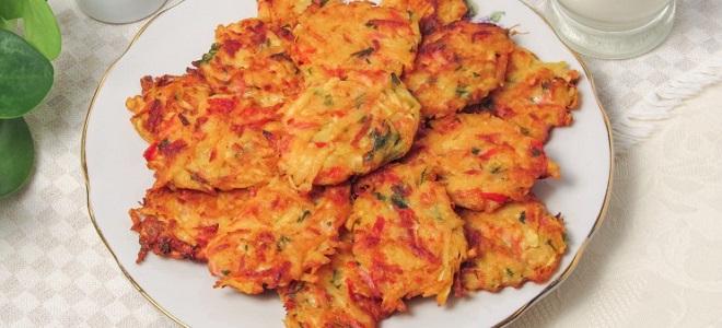 Драники из картофеля с колбасой и сыром