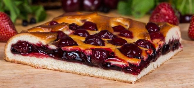 Пирог с вишней на дрожжевом тесте рецепт с фото