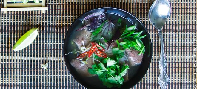 фо бо вьетнамский суп с говядиной