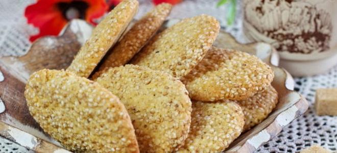 французское печенье с кунжутом