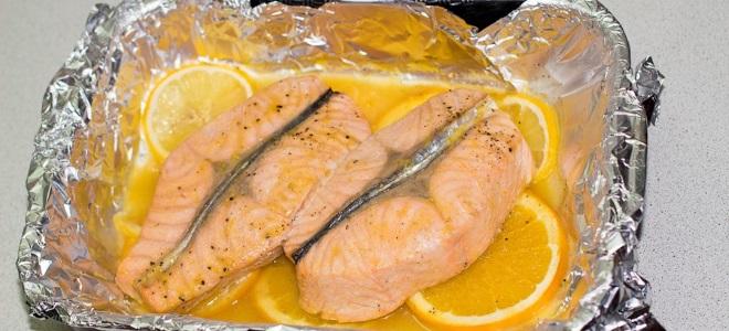 Горбуша с лимоном в фольге рецепт