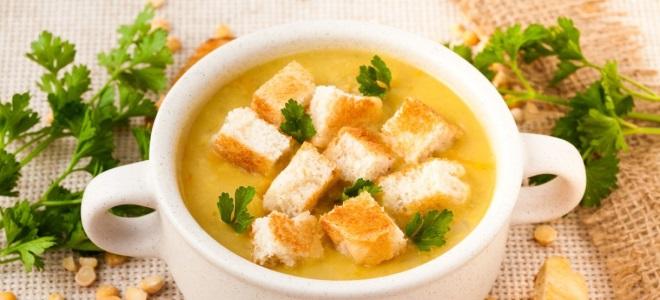 Гороховый суп-пюре без мяса
