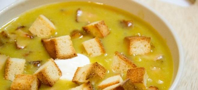 гороховый суп-пюре с копченостями