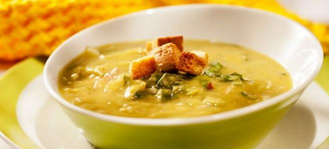 гороховый суп с копченой рыбой