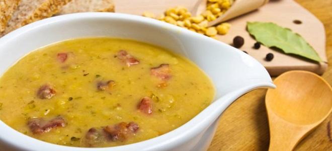 Гороховый суп с курицей рецепт