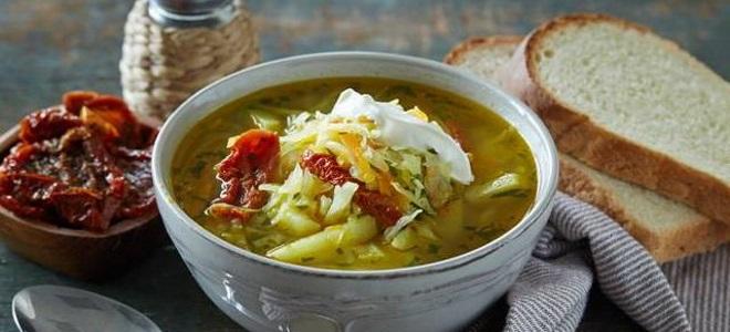 гороховый суп с квашеной капустой