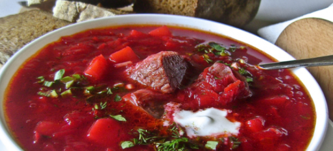 Горячий свекольник с мясом – классический рецепт