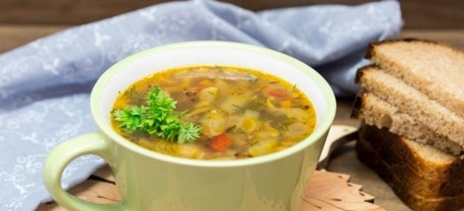 Гречневый суп - рецепт без мяса