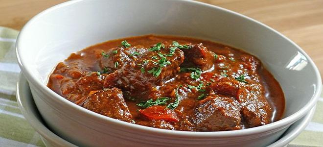 Говядина венгерски рецепт с фото
