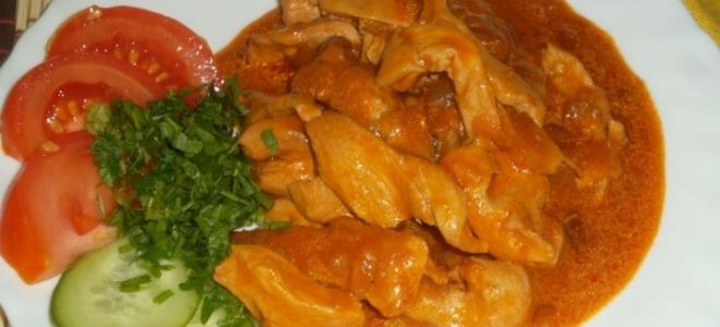Гуляш из филе курицы с подливкой рецепт с пошагово
