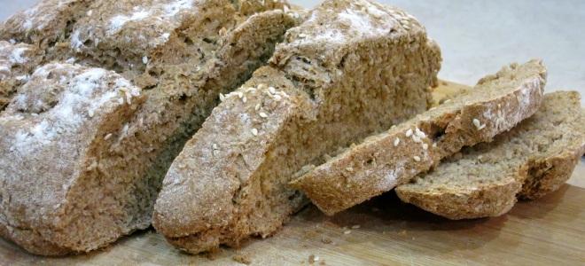 хлеб из цельнозерновой муки на кефире