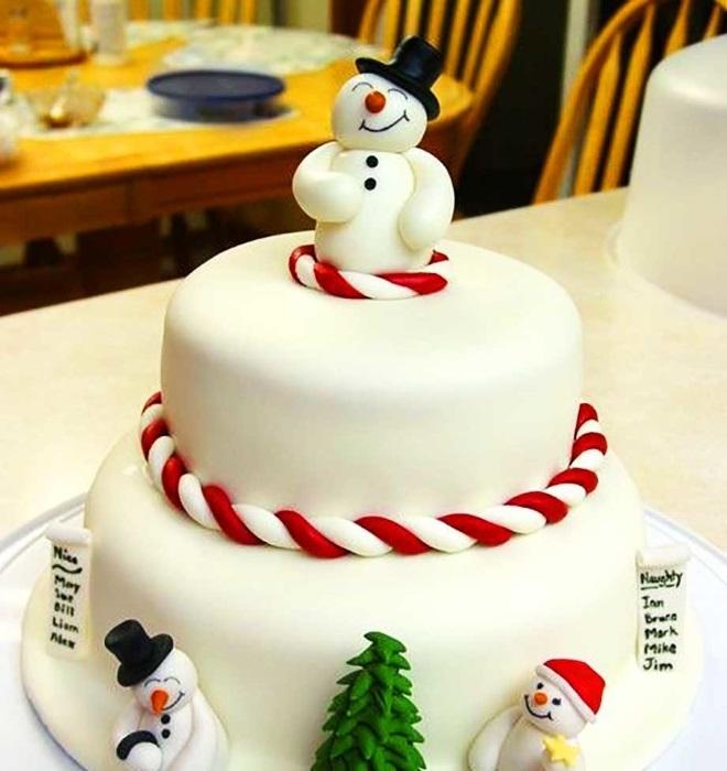 Идеи оформления новогодних тортов 10