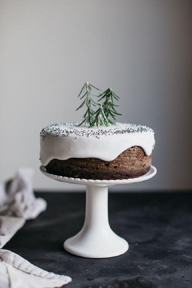 Идеи оформления новогодних тортов 2