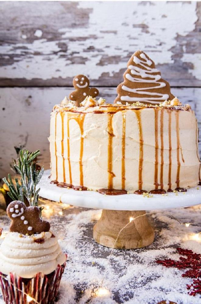 Идеи оформления новогодних тортов 3