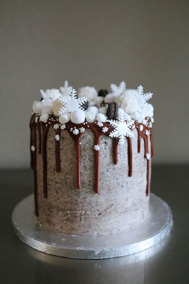 Идеи оформления новогодних тортов 5