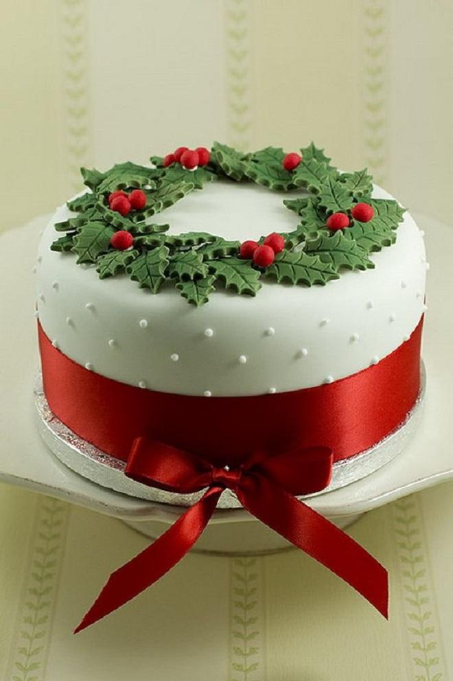 Идеи оформления новогодних тортов 6
