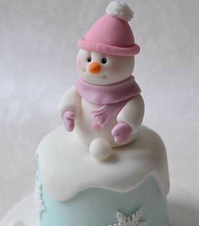 Идеи оформления новогодних тортов 9