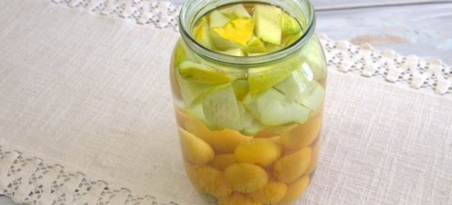 Кабачки с алычой как ананасы - рецепт