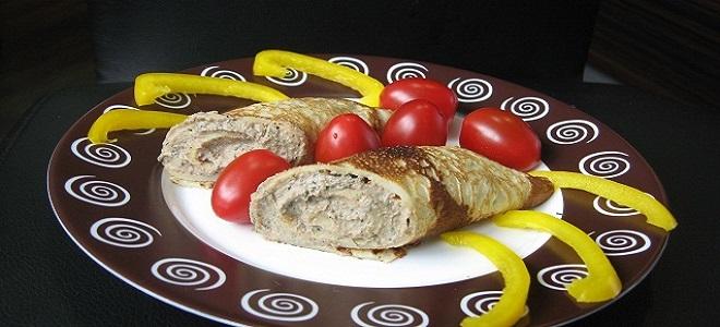 Блинчики с ливерной колбасой рецепт с пошагово