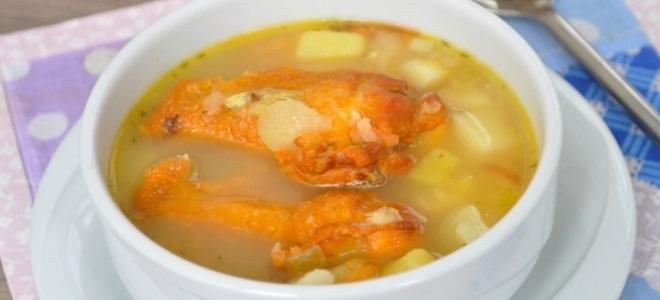 как приготовить гороховый суп с копчеными крылышками