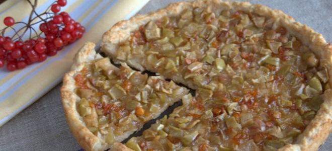 как приготовить пирог с калиной и яблоками