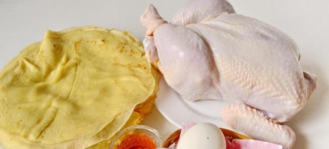 как разделать курицу для фарширования блинами