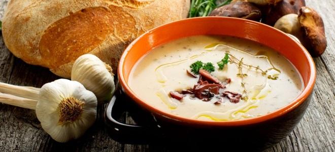 как сварить суп из белых грибов