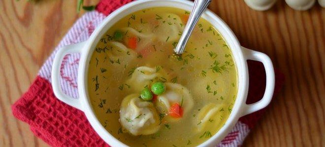 как сварить суп с пельменями в мультиварке