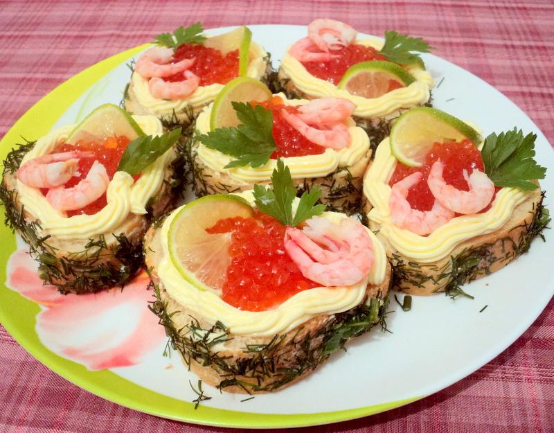 Бутерброды с красной рыбой рецепты и оформление - фото 27